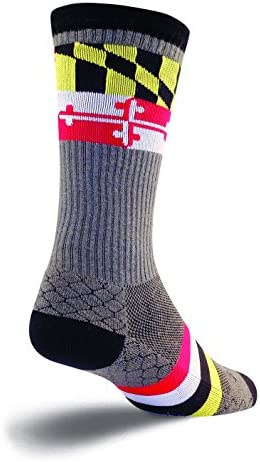 SockGuy Crew 8in LAX Maryland Red Lacrosse Socks