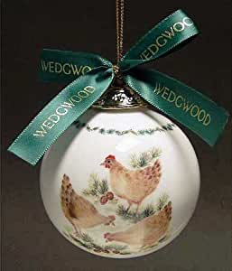 Wedgwood 12 Days of Christmas Ornament - Three French Hens- Third in Series
