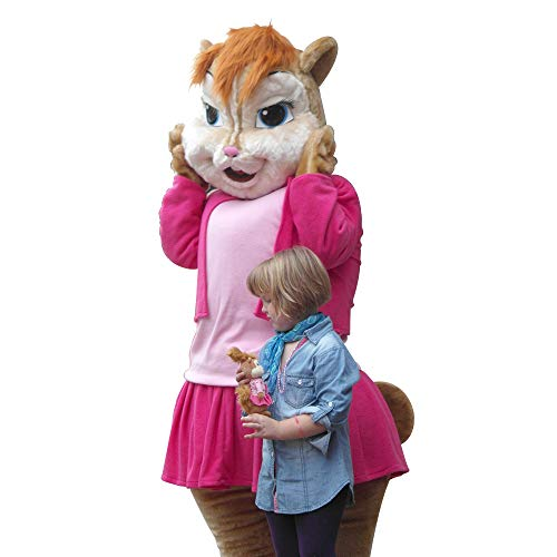 Brittany Female Chipmunks Mascot Costume Character Cosplay Party Birthday Halloween]()