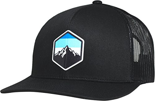 - Lindo Trucker Hat - Mountain Sky (Black)