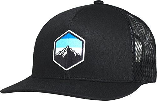 LINDO Trucker Hat - Mountain Sky (Black)
