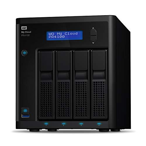 WD 56TB My Cloud Pro Series PR4100 Network Attached Storage - NAS - WDBNFA0560KBK-NESN