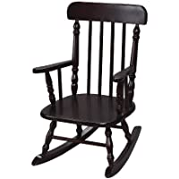 Gift Mark Deluxe Childrens Spindle Rocking Chair, Espresso