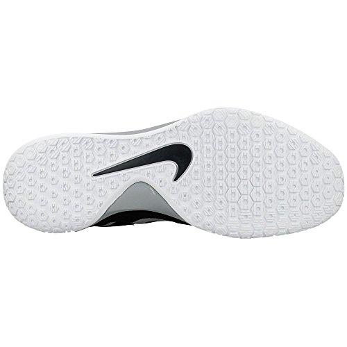 Nike Hyperchase Basketball Herrenschuhe Schwarz / Wolf Grau / Weiß / Metallic Silber