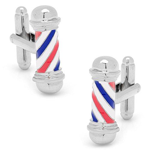 picture of Classic Barber Shop Pole Cufflinks