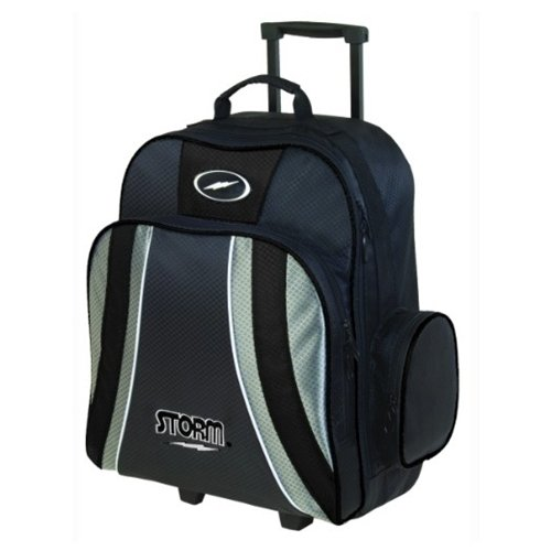 Storm Bowling Products Rascal 1 Ball Roller Bowling Bag, Black/Silver