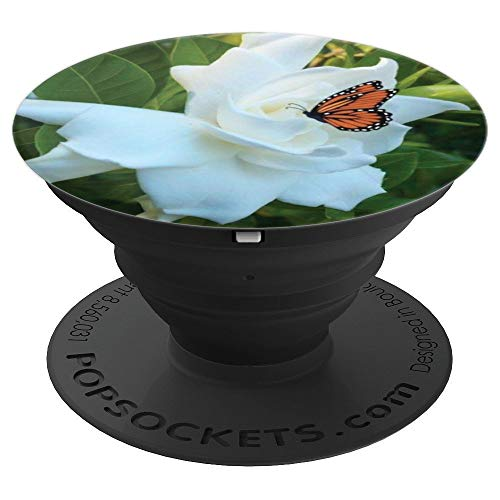- Beautiful White Gardenia Flower Design Floral Phone Device - PopSockets Grip and Stand for Phones and Tablets