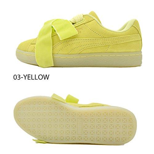 Puma Suede Heart Reset Damen Sneaker Gelb