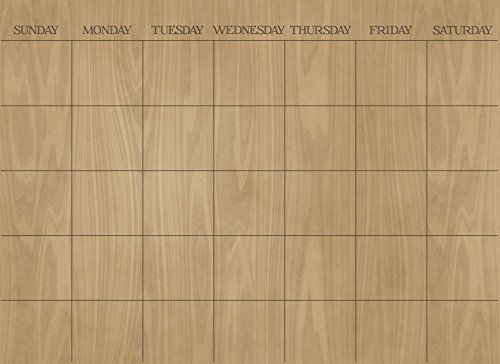Wall Pops WPE1586 Hardwood Monthly Dry Erase Calendar Decal (Wall Hardwood)