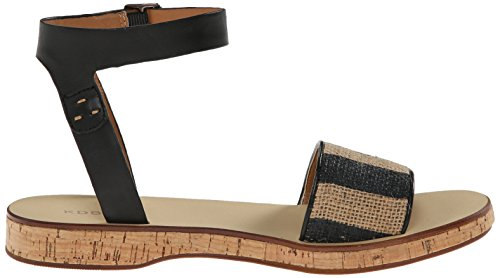 Natural Platform Black Sandal Carol Kelsi Dagger Women's Brooklyn nqq74A