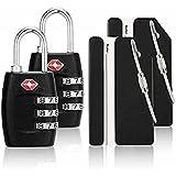 iMucci TSA Approved Luggage Locks (2 black) Luggage Locks 2 Luggage Tags