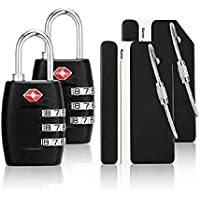 iMucci 4 Pack TSA Approved Customs lock for Travel Luggage Locks PC Body Combination Locks for Travel Bag Suit Case Draw…