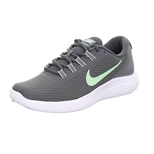 Nike Women's Lunarconverge Dark Grey/Fresh Mint-Cool Ankle-High Running Shoe - 9.5M