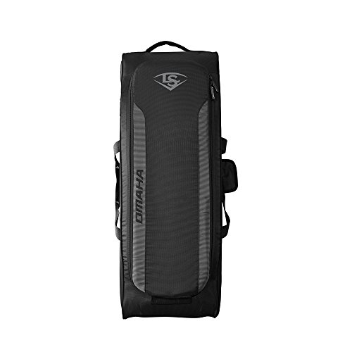 Louisville Slugger Omaha Rig Wheeled Bag - Black