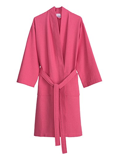 TowelSelections Women's Robe, Kimono Waffle Spa Bathrobe Medium/Large Morning Glory ()
