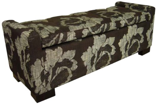 - ORE International HB4277 Storage Bench, Floral