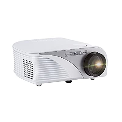 Mini Projector,LESHP 1080P HD 3D Projector with 5.0 Inch LCD TFT Display 1300 ANSI Lumens Mini Portable Multi-Media for Home Cinema Theater TV Laptop Game SD iPad iPhone Android Smartphone,Black