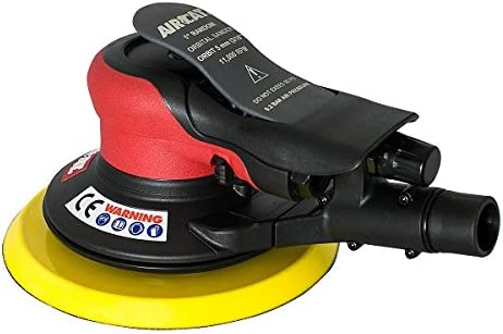 AIRCAT 6700-6-336CV 6 Central Vacuum Palm Sander 3 16 Orbit, Small, Red Black