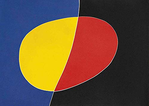 Handpainted Reproduction Joan Miro 90X65 cm (Approx. 36X26 inch) - Francis of Assisi Abstract Paintings Canvas Wall Art Poster Rolled