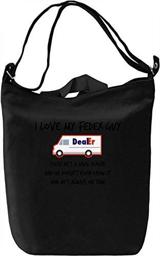 I love my fedex guy Borsa Giornaliera Canvas Canvas Day Bag| 100% Premium Cotton Canvas| DTG Printing|