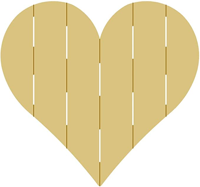 Heart with Ampersand Cutout Unfinished Wood Cutout Valentine/'s Day Decor Door Hanger MDF Shaped Canvas Style 1