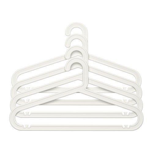 Ikea BAGIS - Ropa-Percha, Blanco / 4 Paquete: Amazon.es ...