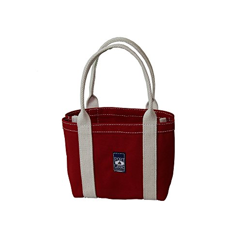 Handmade Heavy Duty Canvas Skiff Tote Bag Made One At A Time in Maine, USA - Red made in New England