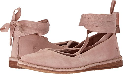 - FRYE Women's Helena Ankle Tie Moccasin, Blush, 5.5 M US