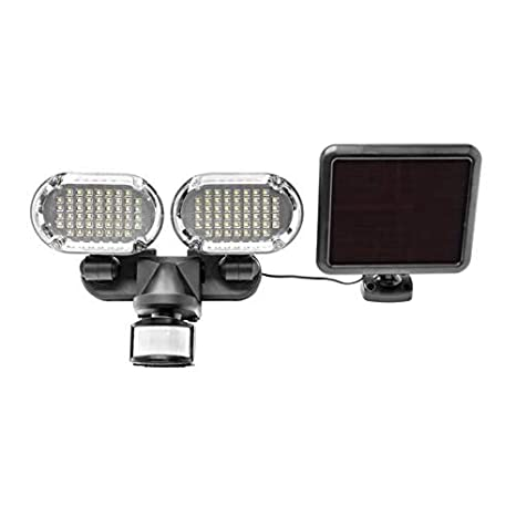 Sunforce 82153 150-LED Triple Head Solar Motion Light, 1000 Lumen Output, 30ft. 9.1m Detection Distance, 180 Degrees Detection Range, Fully Weather Resistant and can be Mounted Almost Anywhere