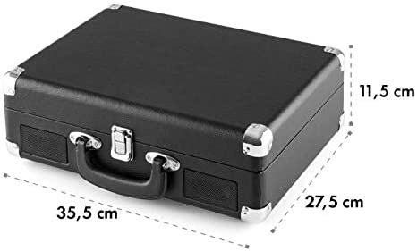 auna Peggy Sue Black Edition - Tocadiscos, Reproduce 3 tamaños de ...