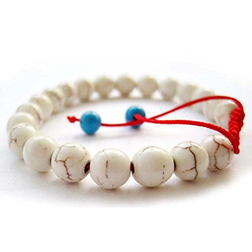 Hand Crafted 8mm Beads Tibetan Buddhist Wrist Mala Bracelet for Meditation