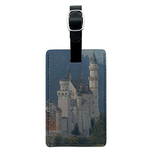 Allgau Neuschwanstein Fairy Castle Mountains Leather Luggage ID Tag Suitcase