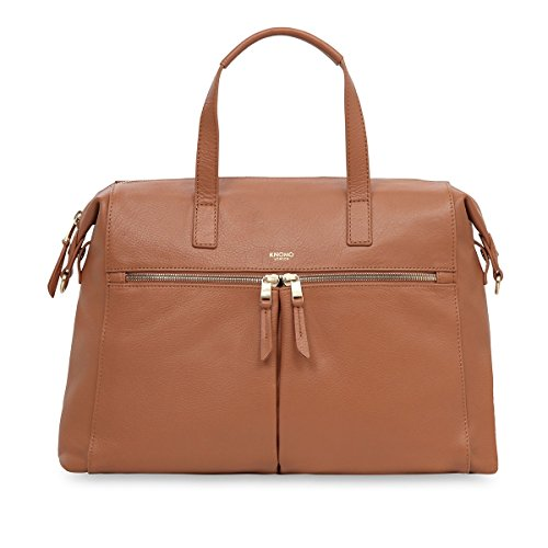 knomo-luggage-slim-brief-tote-14-inch-caramel
