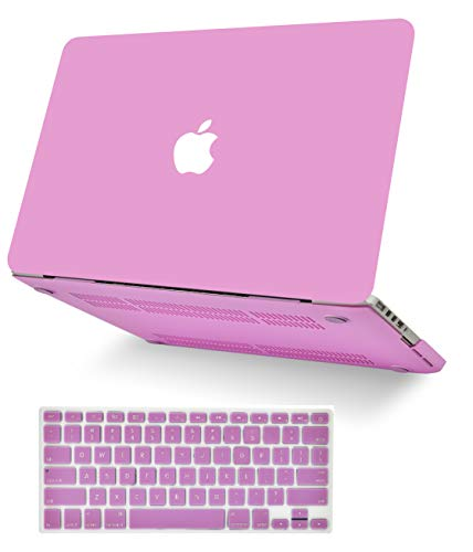 "KECC Laptop Case for Old MacBook Pro 13"" Retina (-2015) w/Keyboard Cover Plastic Hard Shell Case A1502/A1425 2 in 1 Bundle (Lavender)"