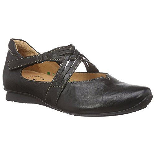 Think Womens Chilli 88108 Black Leather Shoes 38 EU by Think!