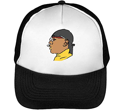 Gangsta Gorras Beisbol Negro Hombre Cigarette Blanco Snapback rBwx5vrzq
