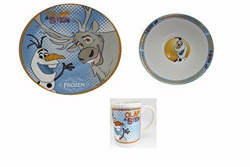 Frozen Disney Frozen Breakfast Set 3 Pieces With Plate Bowl