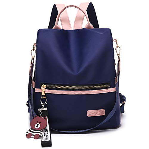 NEW Multifunctional Oxford Women Backpack Anti Theft School Backpack For Teenager Girls Navy Blue 12 inches -