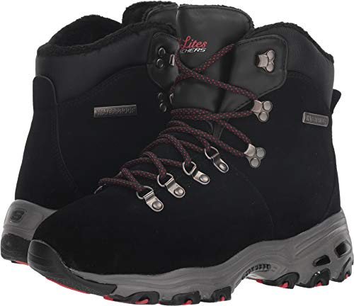 (Skechers D'Lites Hartford Womens Boots Black 6)