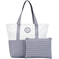 UCANDO Women Tote Bag for School Work Travel and Shopping Included a Dressing Bag