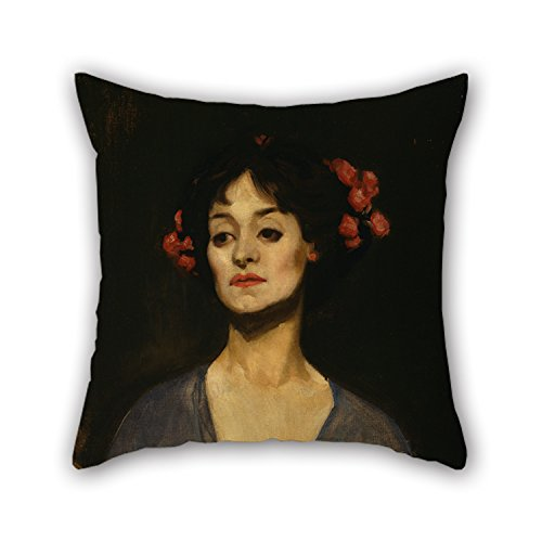 [Loveloveu Throw Pillow Covers Of Oil Painting George W Lambert - Portrait Of A Lady (The Dancer),for Kids,sofa,adults,christmas,kids Room,car Seat 18 X 18 Inches / 45 By 45 Cm(each] (Aztec Dancers Costumes)