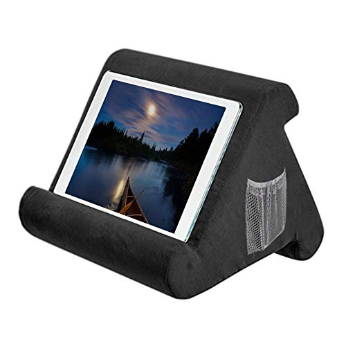 Amasstu Multi-Angle Soft Pillow Lap Stand for iPads, Universal Pillow Lap Stand for Tablets, eReaders, Smartphones, Books, Magazines