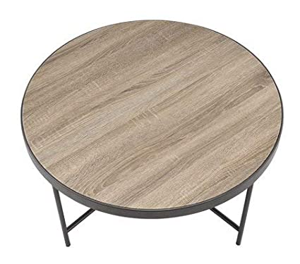Amazon Com Wood Coffee Table With Laminate Round Coffee Table