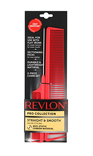 Revlon Salon Straightening 2 Piece Carbon Combs