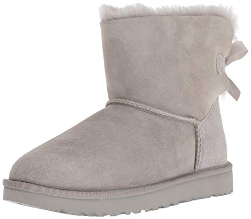 UGG Women's W Mini Bailey Bow II Fashion Boot, Seal, 9 M US