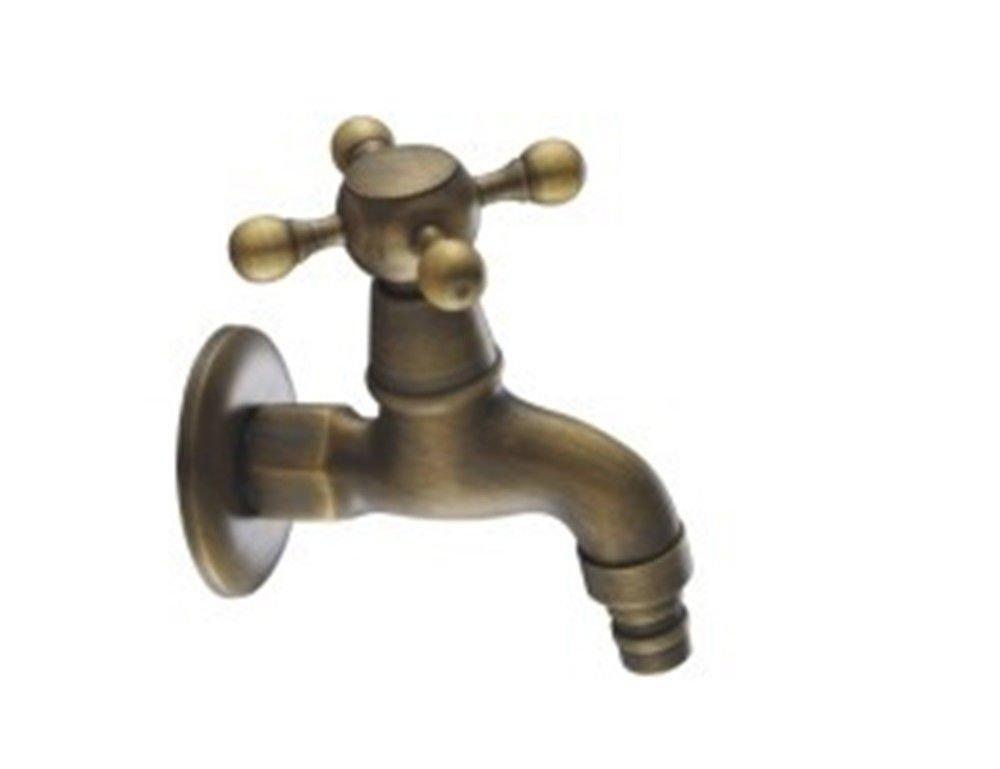 MEIBATH Waschtischarmatur Badezimmer Waschbecken Wasserhahn Küchenarmaturen Messing in die Wand antike Kaltes Wasser Küchen Wasserhahn Badarmatur
