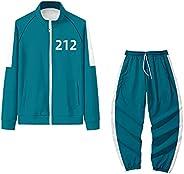 Squid Game Hoodie Korean TV Jacket Stand Collar Sweatshirt Suit Fashion Casual Sweatshirts Suit for Man Woman