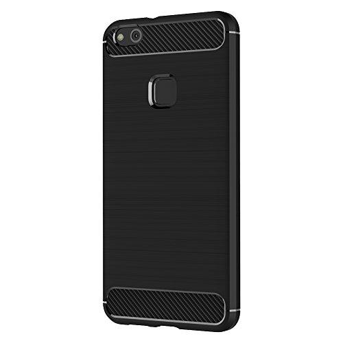 39fc37cdfa4 free shipping Funda Huawei P10 Lite, AICEK Negro Silicona Fundas para P10  Lite Carcasa Huawei