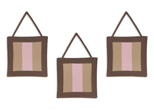 Sweet Jojo Designs Wall Hanging - Soho Pink and Brown