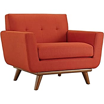 Amazon Com Hawthorne Collections Upholstered Accent Chair In Citrus